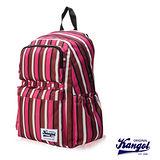KANGOL 英式袋鼠JUNGLE系列- 條紋後背包-粉色KG1111