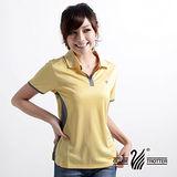 【遊遍天下】女款休閒抗UV吸濕排汗機能POLO衫MS009黃