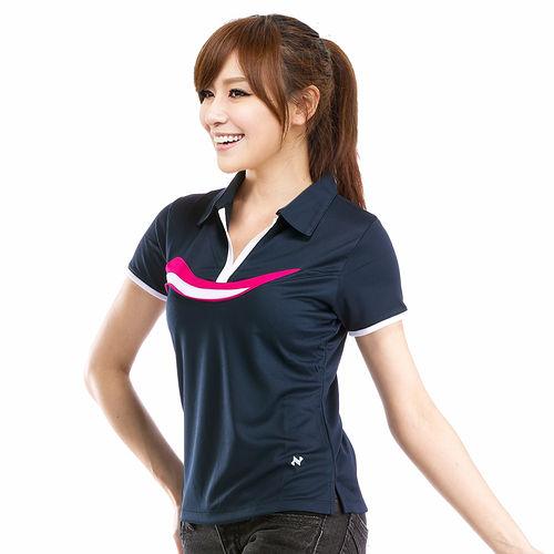 【遊遍天下】女款艷酷涼爽吸濕排汗機能POLO衫NS013黑M