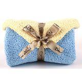 Bonne Nuit Baby 柔舒小孩包巾(78x78cm) 蔚藍/玉米黃色