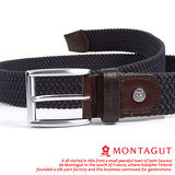 MONTAGUT夢特嬌-義大利野牛皮 精品 針扣彈力帶M895008