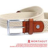 MONTAGUT夢特嬌-義大利野牛皮 精品 針扣彈力帶M895009