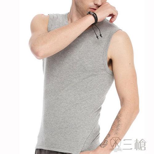 ~三槍牌~ 純棉型男彩色寬肩背心~4件組  取色