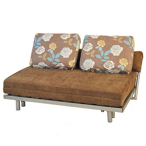 【品味居】雅諾咖啡色絨布沙發床