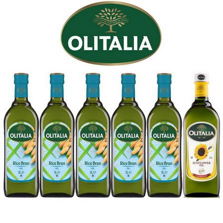 Olitalia奧利塔 超值玄米油+葵花油禮盒組
