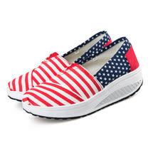 《JOYCE》學院紅白條控星星健走鞋