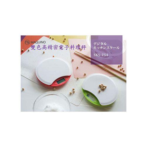 日本MAQUINO天圓型高精密電子料理秤(紅色)