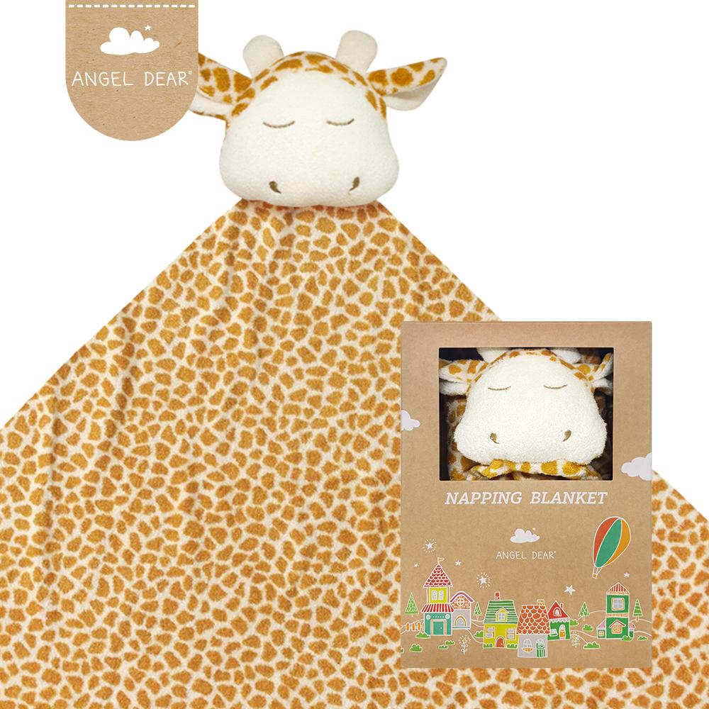 美國 Angel Dear 大頭動物嬰兒毛毯 (長頸鹿)
