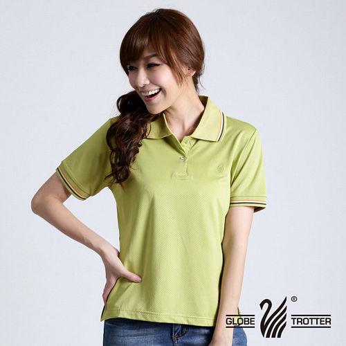 【遊遍天下】MIT台灣製女款抗UV涼爽吸濕排汗機能POLO衫S108卡其