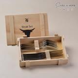 【WMF】牛排刀叉12PC(木盒) 不鏽鋼牛排刀叉組