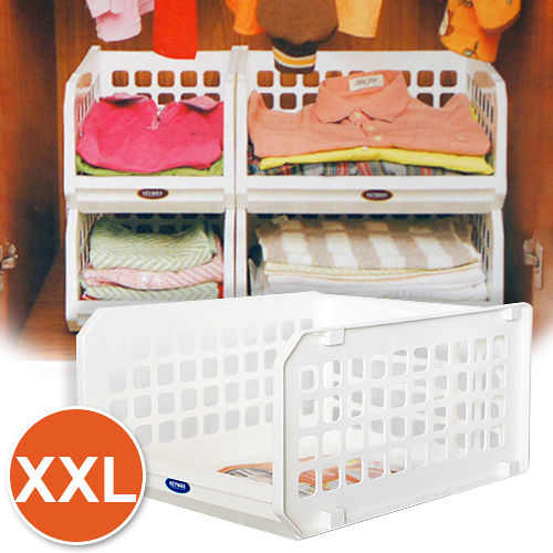 XXL大容量 開放式堆疊整理架6入
