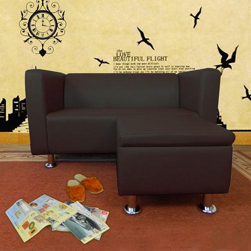 HAPPYHOME 小龐帝克二人座L型鐵腳沙發ZU5-1-2T+ZU5-1-4T四色可選