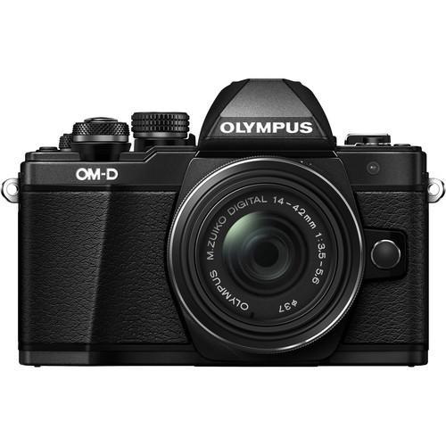 OLYMPUS OM-D E-M5 Mark II 14-42mm EZ(公司貨)-加送64G 48mb記憶卡+原廠電池+快門線+保護鏡+大吹球清潔組+專用拭鏡筆+單眼專用皮質手腕帶