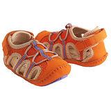 美國 Rileyroos 真皮手工鞋/學步鞋/童鞋/寶寶鞋/嬰兒鞋 派翠克鞋 亮眼橘