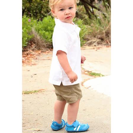 美國 Rileyroos 真皮手工鞋/學步鞋/童鞋/寶寶鞋/嬰兒鞋_愉快藍運動型