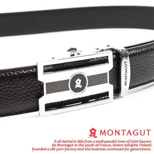 MONTAGUT夢特嬌-頭層牛皮 精品 自動扣皮帶75605F