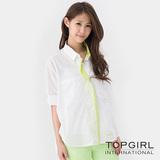 【TOP GIRL】風情萬種寬版造型襯衫-女(經典白)