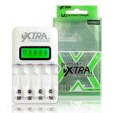VXTRA 飛創 LCD智慧型大電流急速電池充電器 可單顆充電 可充3號4號