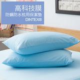 LAMINA 高科技膜防蹣防枕用保潔墊-2入(藍)