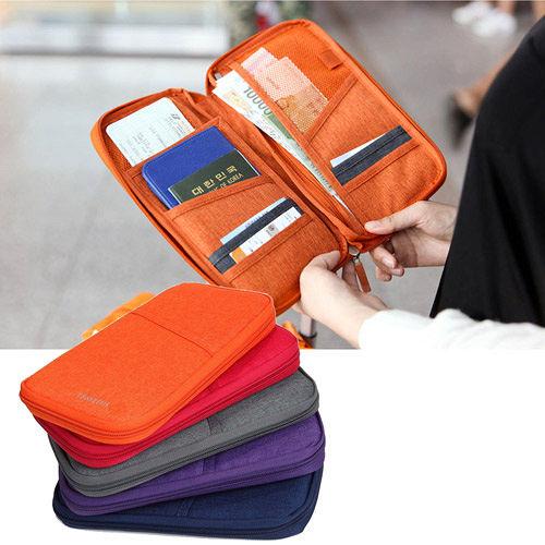 DF Queenin皮夾 - 韓版輕旅時尚系尼龍隨身護照夾-共4色
