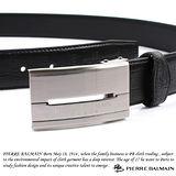 PB-皮爾帕門-頭層牛皮 精品 針扣皮帶500009