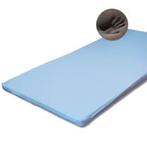 LUST 5公分【3尺單人-備長炭記憶床墊】平面/矽膠床墊(日本原料)~附3M鳥眼布套