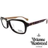 Vivienne Westwood 英國薇薇安魏斯伍德夢幻蕾絲拼接款LOGO光學眼鏡(黑+粉)VW31302