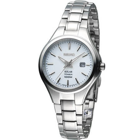 精工 SEIKO Solar 簡約【鈦】時尚腕錶 V137-0BG0S SUT199P1 -friDay購物