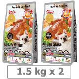 沛克樂 Pets Corner 頂級天然糧雞肉-養生五穀活力餐1.5KG x 2入 (小顆粒)