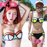 【天使霓裳】酷玩艷夏 二件式鋼圈比基尼泳衣(共3色)