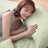 (任)J-bedtime【蝶舞飛揚】單人絕美壓紋X防汙防塵床包式保潔墊(綠蝶)
