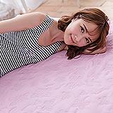 (任)J-bedtime【蝶舞飛揚】雙人絕美壓紋X防汙防塵床包式保潔墊(粉蝶)