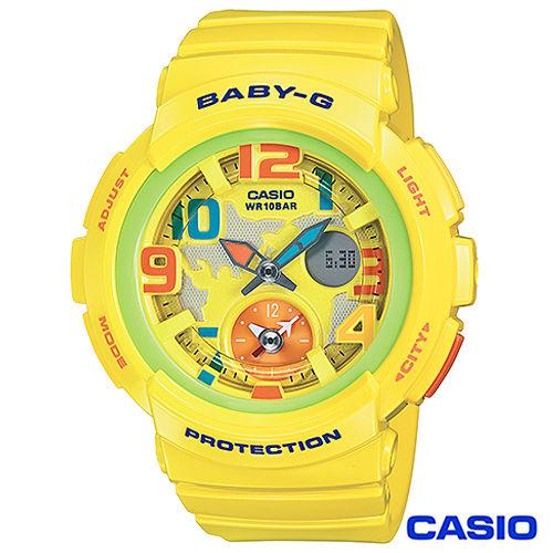 CASIO卡西歐 Baby-G少女時代地圖海灘旅行個性腕錶 BGA-190-9B