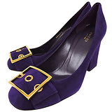 GUCCI 麂皮高跟鞋-紫色(39.5號)