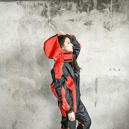 OutPerform-戰神Mars兩件式風雨衣-黑/橘紅