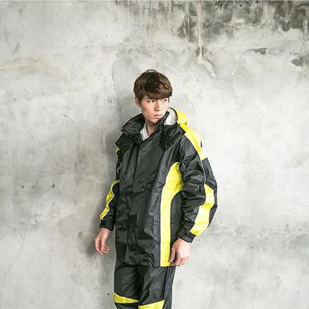 OutPerform-戰神Mars 兩件式風雨衣-黑/芥茉黃