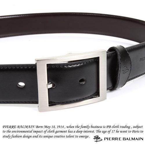 PB-皮爾帕門-質感二層牛皮雙面休閒皮帶P865019