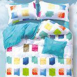 【法式寢飾花季】時尚典藏-加大精梳全棉被套床包組(色彩狂想6*6.2尺)
