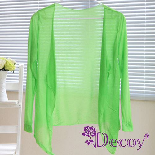 【Decoy】艷夏防曬*超薄空調衫/綠