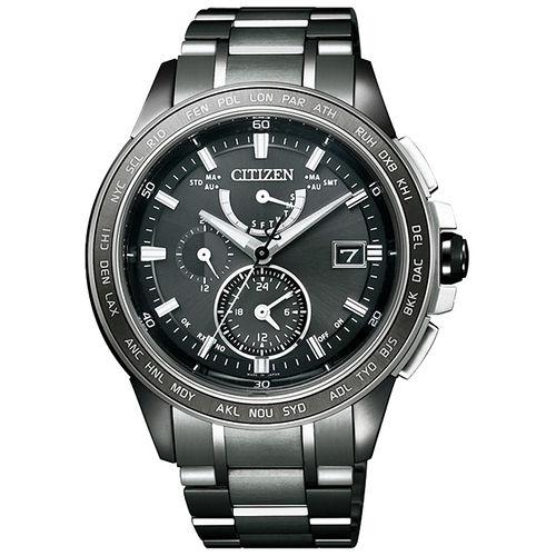 CITIZEN Eco-Drive 迷霧恆星鈦金屬電波計時腕錶-深灰