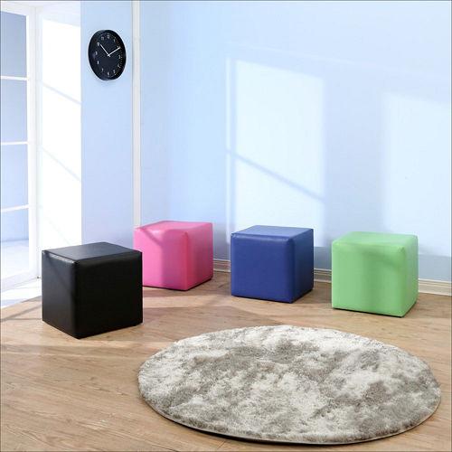 BuyJM 多彩方塊沙發凳 40x40公分