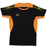 Mizuno 排球上衣 V2TA5G1109 (黑x亮橘)