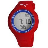 PUMA 陽光信號電子腕錶-紅x藍