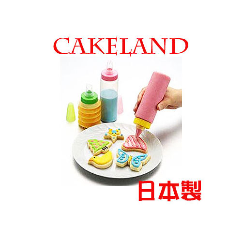 日本CAKELAND彩虹奶油花嘴組(4瓶+7花嘴)