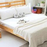 美夢元素 繽紛馬卡龍保潔床墊-雙人加大〈百合白〉