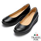 Travel Fox SOFT-2吋厚底舒適鞋914362(黑-01)