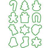《TESCOMA》PP掛環餅乾切模12件(聖誕吊飾)