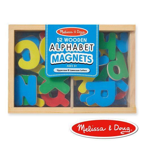 美國瑪莉莎 Melissa & Doug 大小寫英文字母木質磁鐵貼- 52 pcs