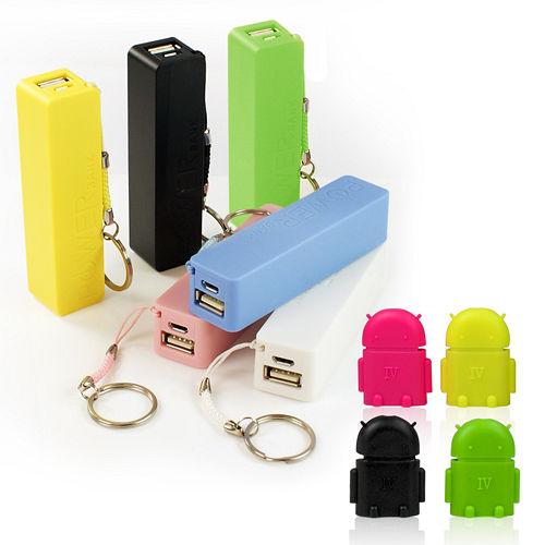 【超方便】2600mAh 行動電源+迷你安卓 Micro USB to USB A母 OTG轉接頭(隨機出貨)