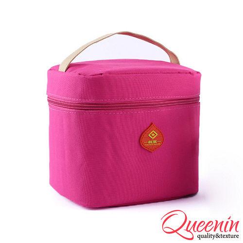 DF Queenin日韓 - 野餐 新樂趣輕便式保冷保溫袋-桃紅